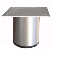 Aluminium meubelpoot diameter 60mm - hoogte 80mm