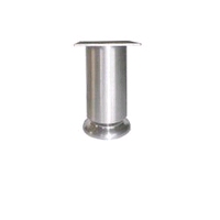 Aluminium meubelpoot diameter 50mm - hoogte 190mm