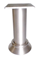 Aluminium meubelpoot diameter 30mm - hoogte 60mm